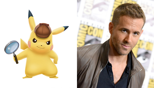 Detective Pikachu and Ryan Reynolds