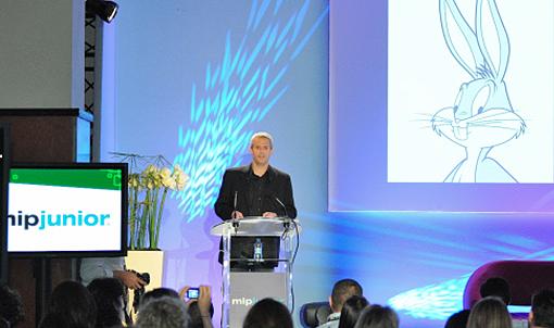 Warner Bros. Animation's Exec VP of Creative Affairs Sam Register delivered MIP Junior's keynote speech