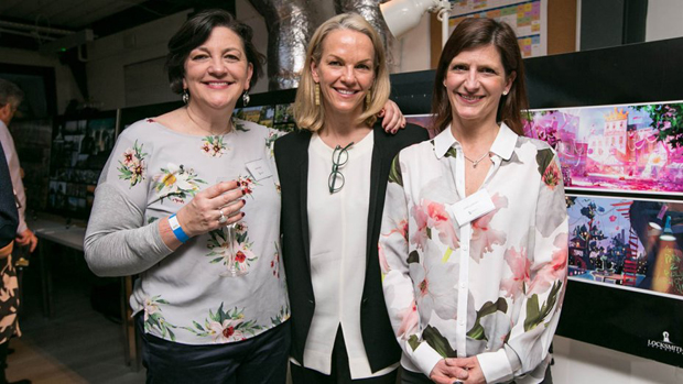 L - R: Sarah Smith, Elisabeth Murdoch, Julie Lockhart