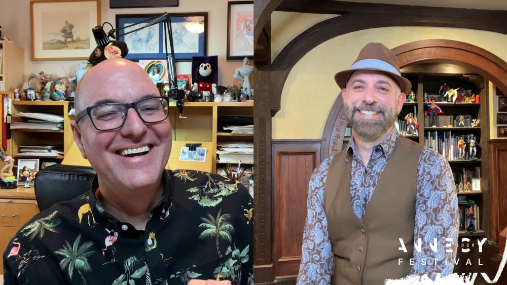 Directors Tony Bancroft (L) and Scott Christian Sava (R)
