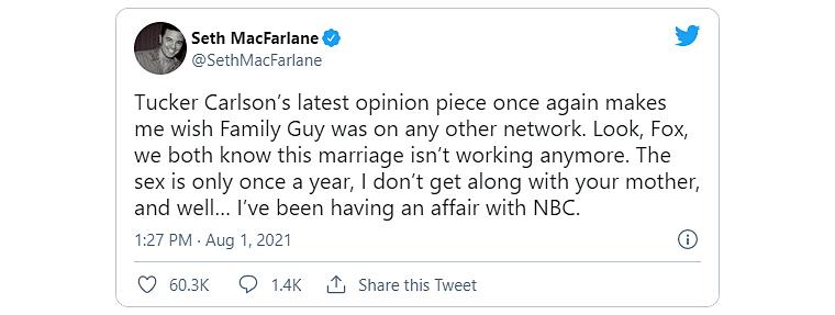 Seth MacFarlane tweet