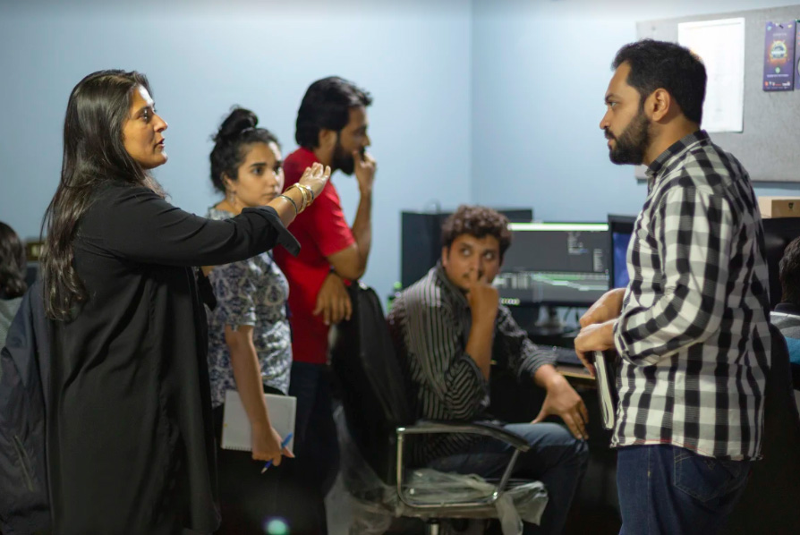 Sharmeen Obaid-Chinoy leads a team of animators at her Waadi Animation studio in Pakistan.
