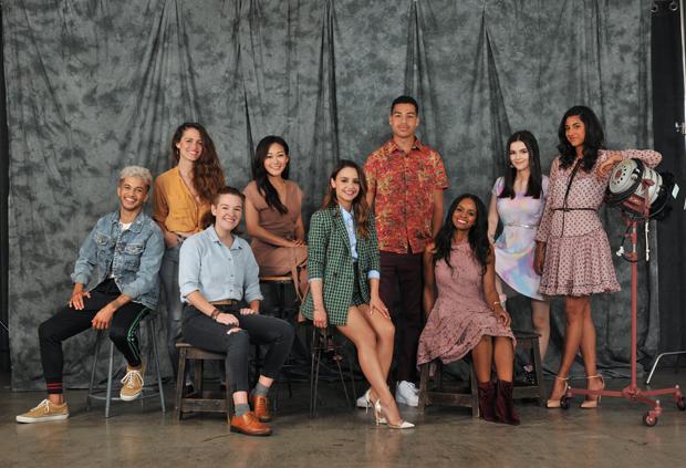 She-Ra voice stars Jordan Fisher, Christine Woods, Noelle Stevenson, Karen Fukuhara, Aimee Carrero, Marcus Scribner, Krystal Joy Brown, Merit Leighton & Vella Lovell.
