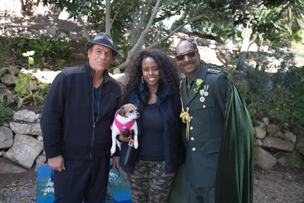 Robert Davi, Angelique Fawcette, and Snoop Dogg on the set of Unbelievable!!!!!