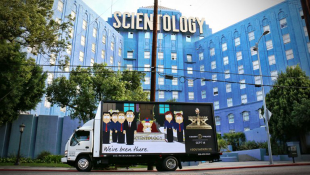 South Park Irks White House, Scientology with Trolling Mobile Billboards