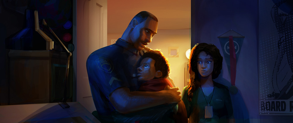 Lighting key by art director Dean Gordon (courtesy Sony Pictures Animation)