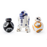 Star Wars BB-9E, R2-D2, and BB-8 Pop!
