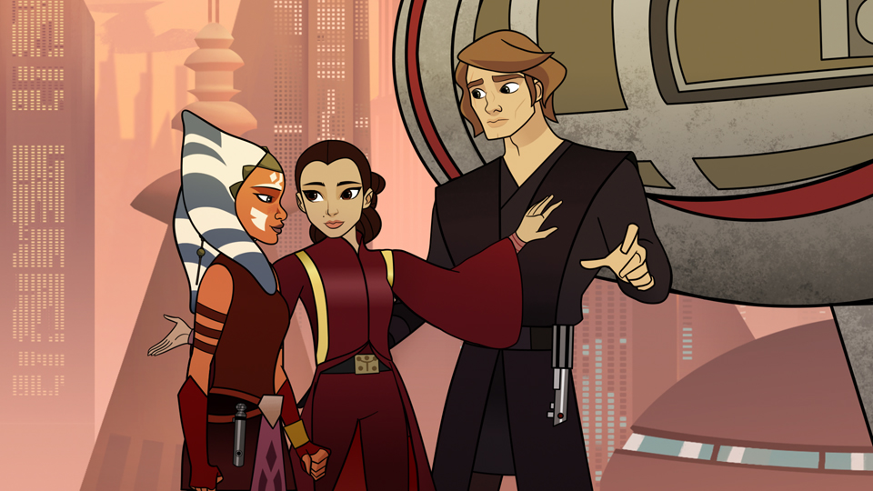 Star Wars Ahsoka And Anakin Coloring Pages