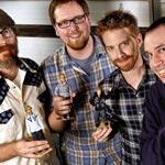 Stoopid Buddy Stoodios principals John Harvatine IV, Eric Towner, Seth Green and Matt Senreich. [Photo: Ricardo DeAratanha / Los Angeles Times]