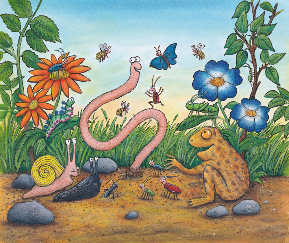 Superworm book illustration (Scholastic, Inc.)