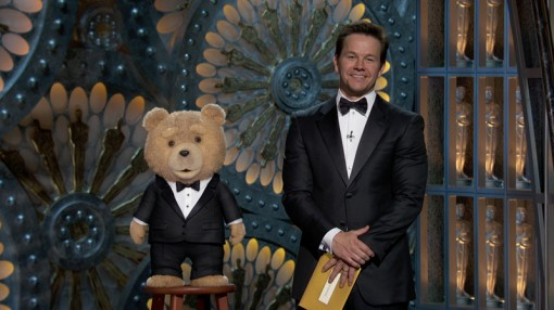 Ted Ruffles Feathers at the Oscars