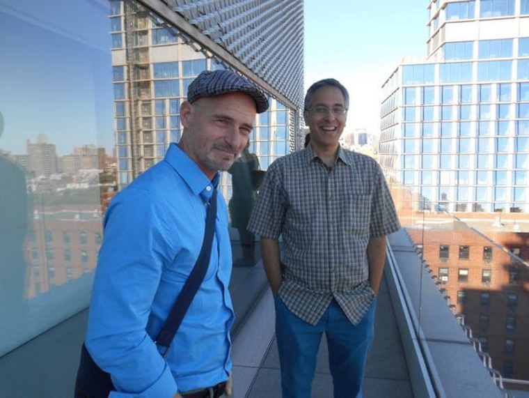 Ted Stearn and David Mazzucchelli, photo by Richmond Lewis