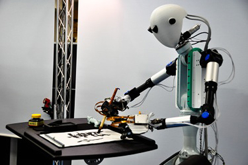 TELESAR V enables a user to bind with a dexterous robot and experience what that robot can feel with its fingertips when manipulating and touching objects remotely.