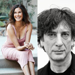 Teri Hatcher and Neil Gaiman