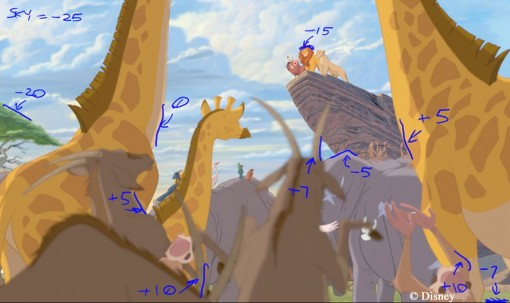 The Lion King 3D Depth Map