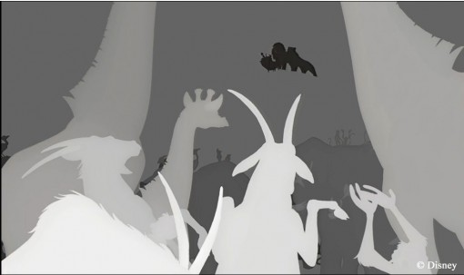 The Lion King 3D greyscale
