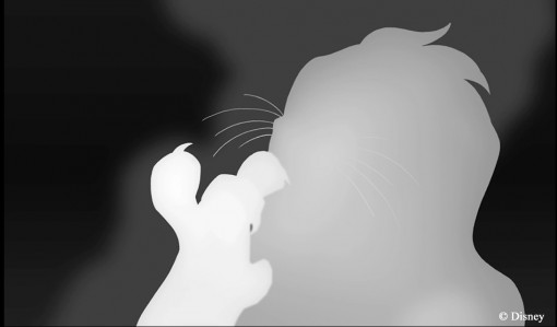 The Lion King 3D grey scale