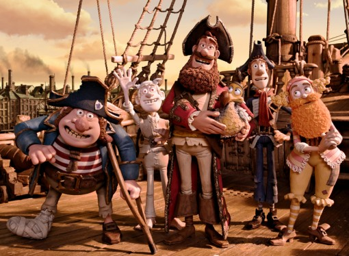 The silly, big-hearted cast of Aardman's The Pirates! Band of Misfits.