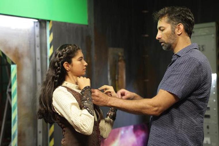 Bobby Bala (director) and his daughter Ishana Bala (Zohra). Photo: © Nadim Hejeili