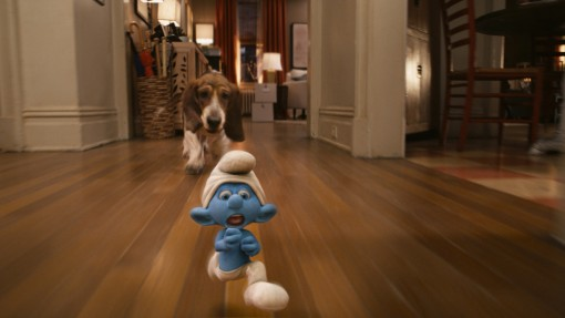 Clumsy Smurf in Columbia Pictures' THE SMURFS.