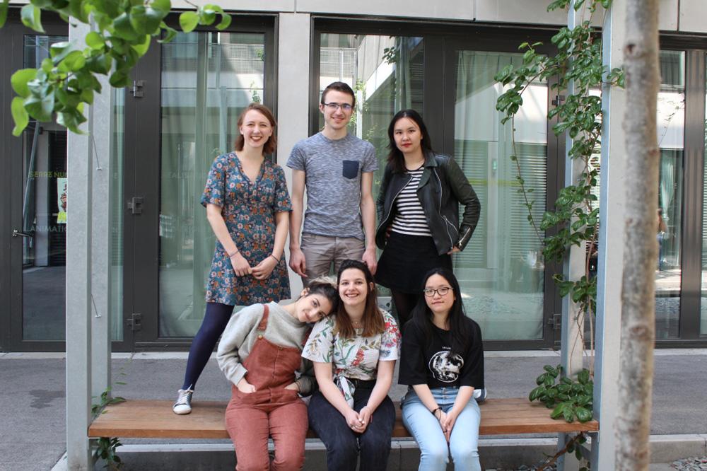 Melanie Lopez, Simon Boucly, Marie Ciesielski, Alice Jaunet, Chan Stéphie Peang and Beatrice Viguie