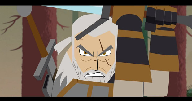 Samurai Witcher: Geralt vs. The Griffin