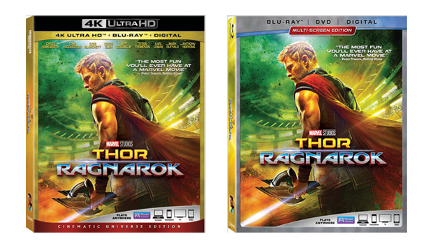 Thor: Ragnarok 4K Ultra HD, Blu-ray, and DVD