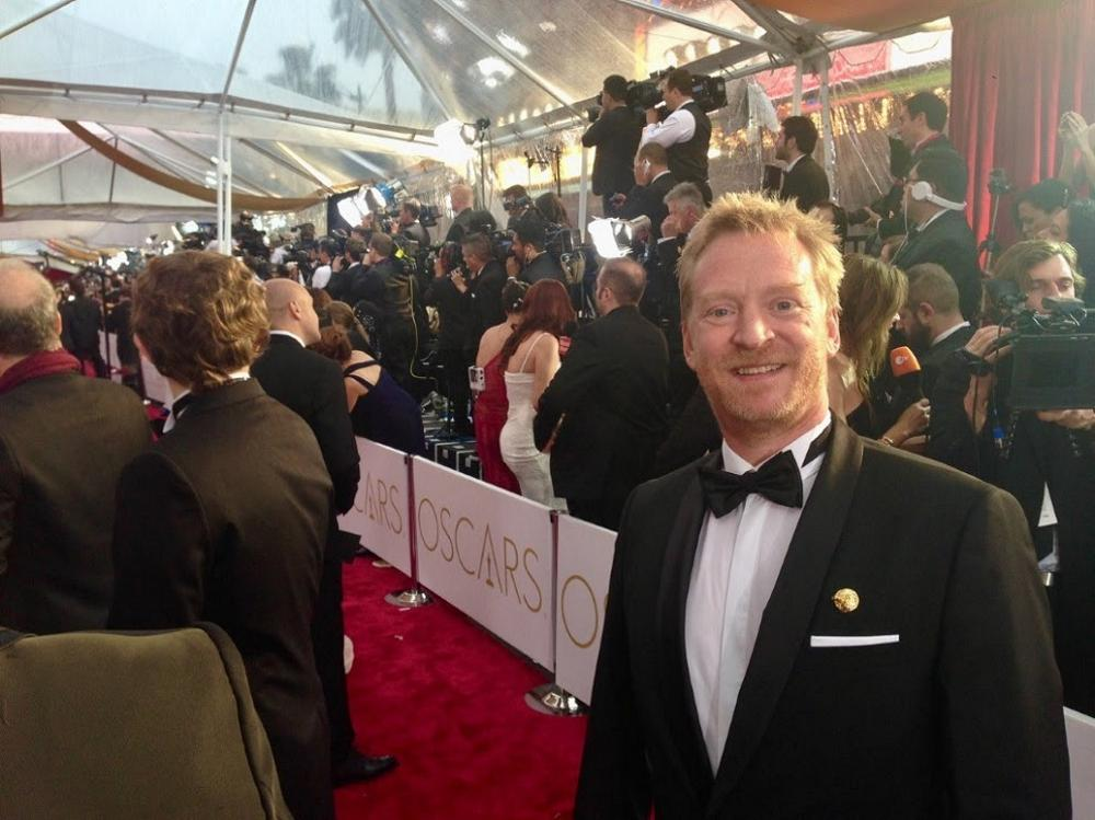 Tim Crosbie, RSP VFX supervisor on X-Men: Days of Future Past, at the Oscars.