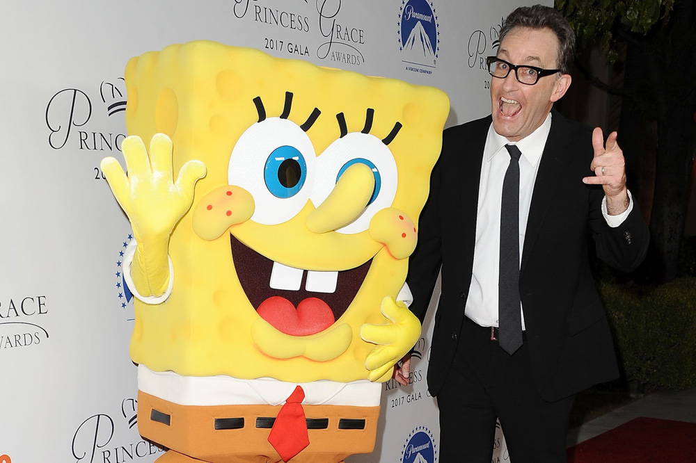 Tom Kenny with SpongeBob SquarePants