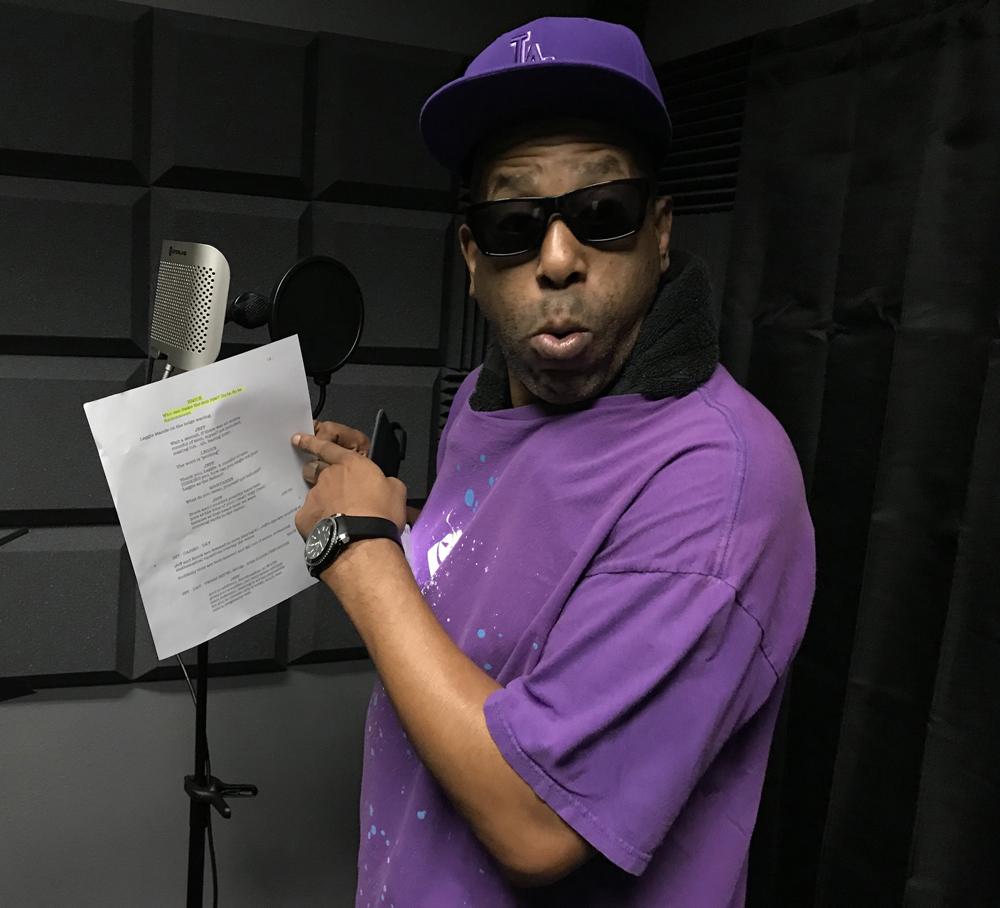 Tone Loc in the studio