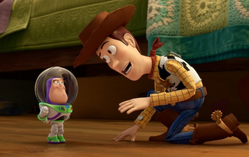 Small Fry (L-R) Mini Buzz and Woody. © 2011 Disney/Pixar. All Rights Reserved.
