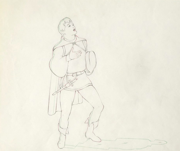 """Cel from Snow White and the Seven Dwarves on display at The Cartoon Art Museum's """"A Treasury of Animation"""""""