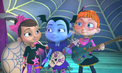 "Vampirina ""Home Scream Home"" (Disney Junior) Poppy, Vampirina & Bridget are the rockin' Ghoul Girls! © 2018 Disney Enterprises, Inc. All rights reserved."