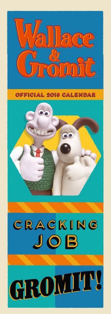Wallace & Gromit Official Slim 2018 Calendar