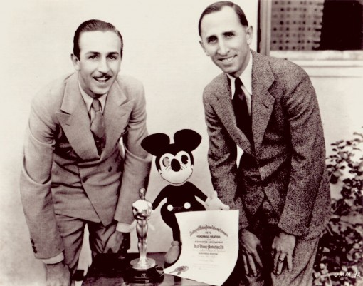 Walt (left) and Roy Disney in 1928