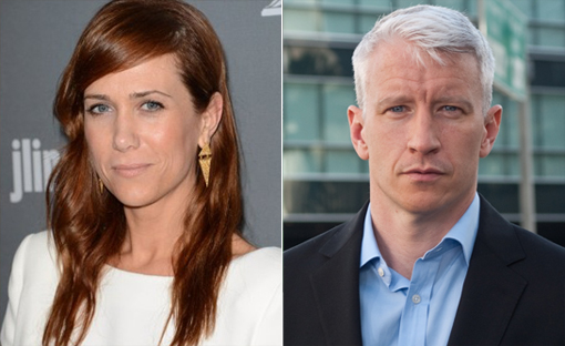 (from left) Kirstin Wiig and Anderson Cooper