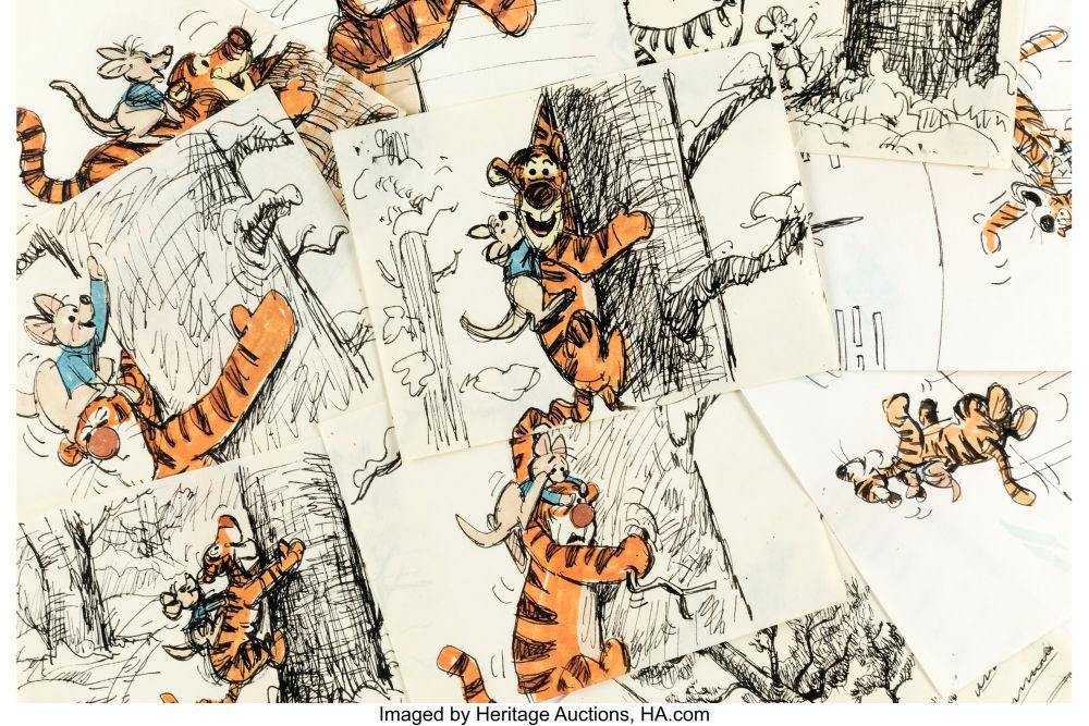 Winnie the Pooh and Tigger Too Storyboard Original Art Group