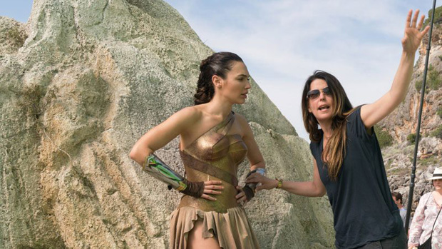 Director Patty Jenkins (right) on the Wonder Woman set with Gal Gadot. The duo will reunite for WB's Wonder Woman 2 (nov. 1, 2019)