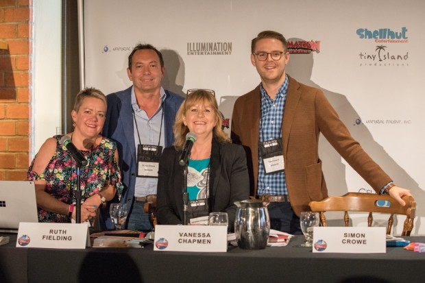 Uk- (L-R) Ruth Fielding (Lupus Films), Simon Crowe (SC Films), Vanessa Chapman (VJC Media) and Tim Crouch (UK Dept. of International Trade) discussed the UK tax relief scheme