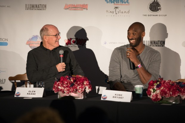 Dear basketball-  Director Glen Keane and writer/producer Kobe Bryant at the Dear Basketball panel.