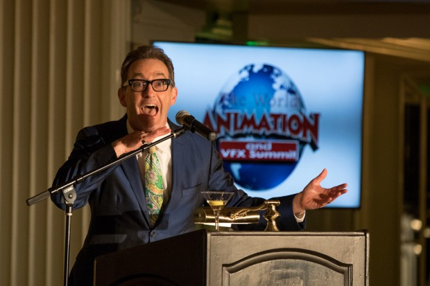 Gala- Awards host Tom Kenny keeps things lively!