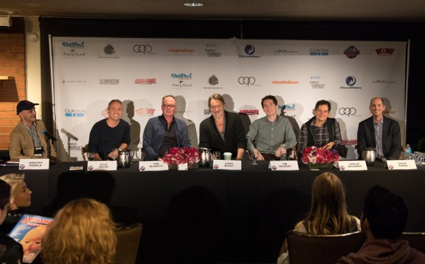 Oscar panel: Oscar Contenders Panel: (L-R) Moderator Ramin Zahed, Kyle Balda (Despicable Me 3), Tom McGrath (The Boss Baby), Chris McKay (The LEGO Batman Movie), Tim Reckart (The Star), Carlos Saldanha (Ferdinand), David Soren (Captain Underpants)