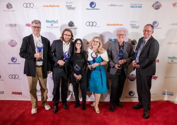Redcarpet- 2017 Hall of Famers: (L-R) Fred Seibert, Philippe Soutter, Lori Forte, Nancy Cartwright, Glen Keane, Mark Taylor
