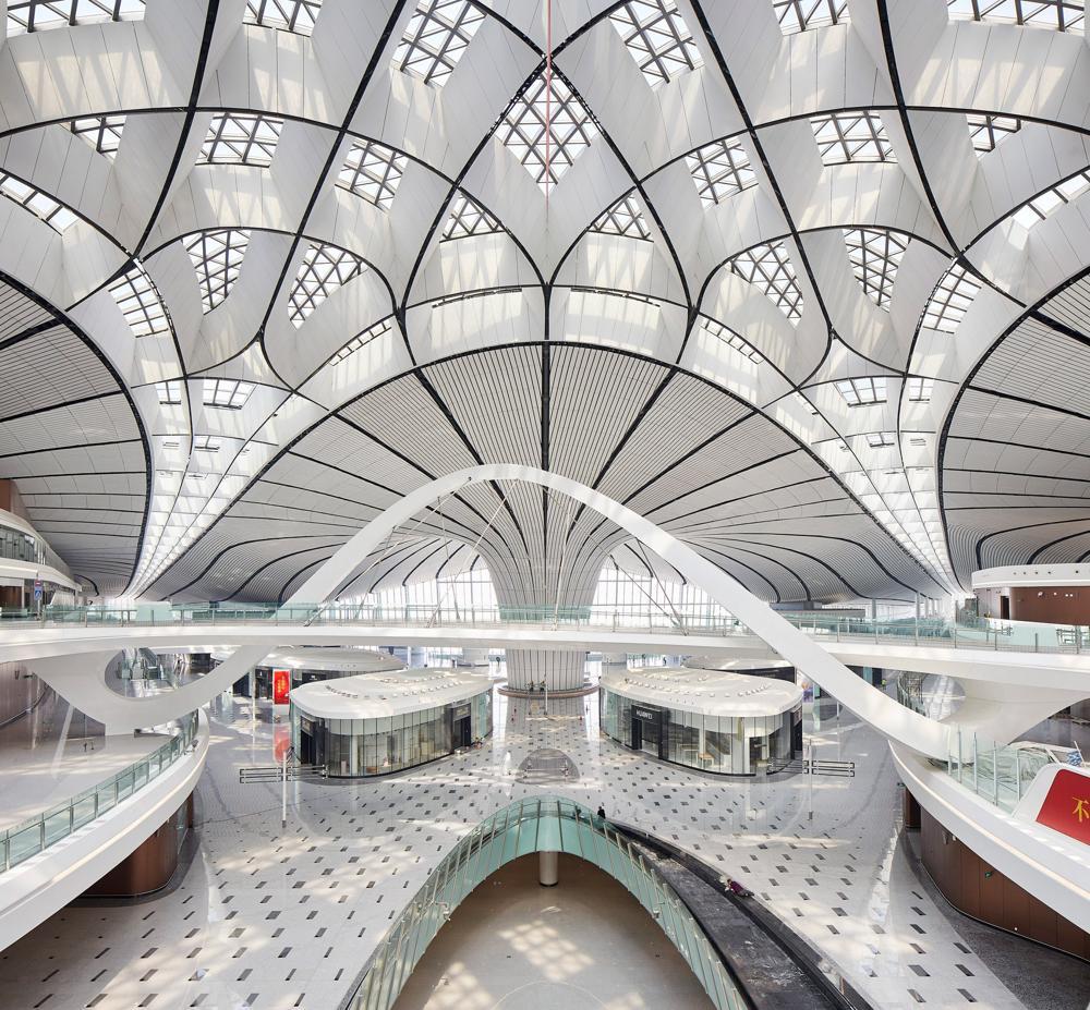 Beijing Daxing Airport, designed by British-Iraqi architect Zaha Hadid
